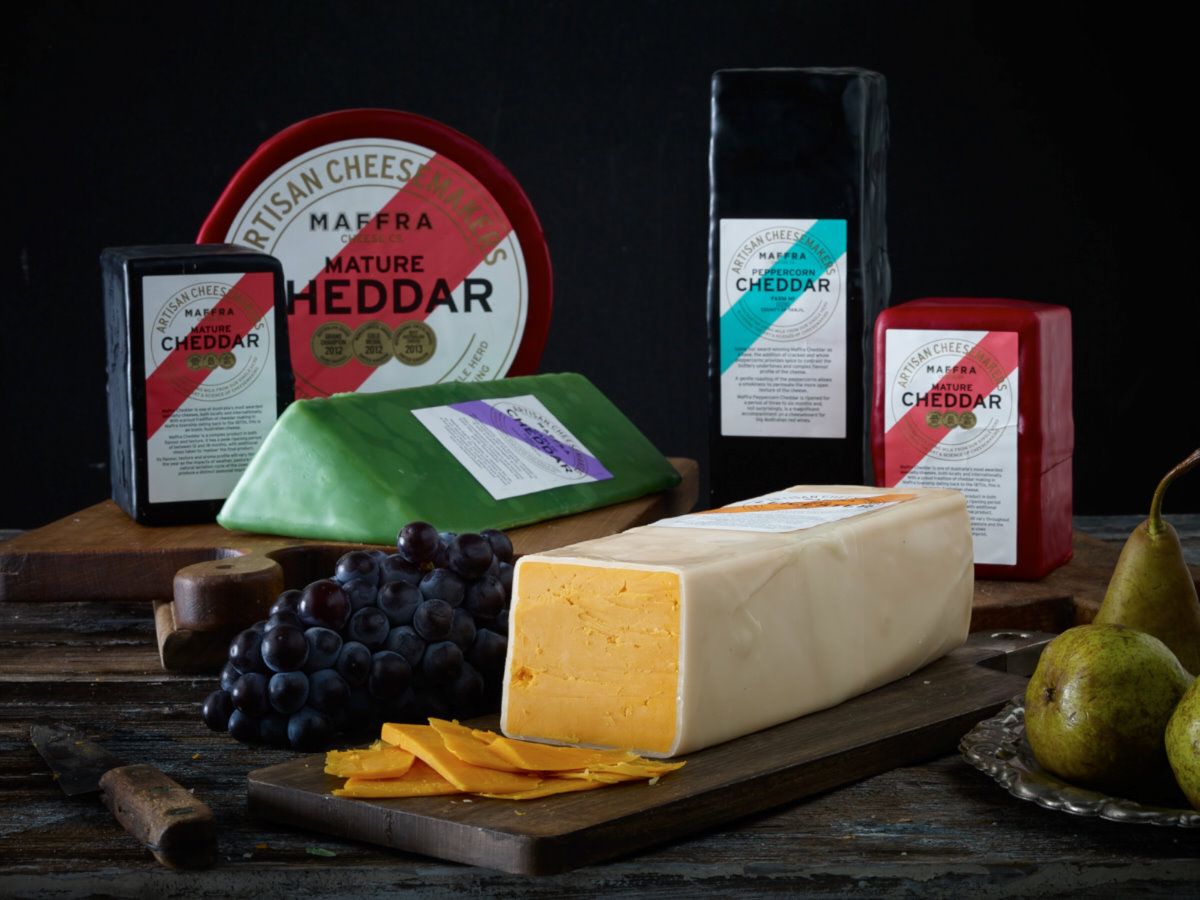 Maffra Cheese Product_cheddar assortment.